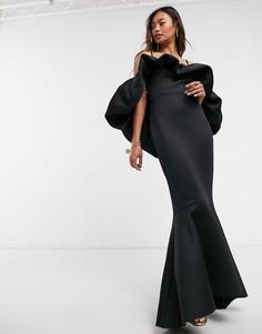 Черное платье макси на бретелях ASOS DESIGN Premium-Черный