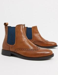 Светло-коричневые кожаные ботинки челси Dune-Светло-коричневый