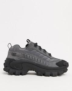 Серые замшевые кроссовки на толстой подошве CAT intruder-Серый Caterpillar