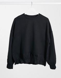Черный свитшот от комплекта с оборками Selected Femme