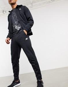Черные флисовые джоггеры New Balance Running Tenacity-Серый