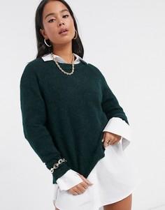 Зеленый джемпер с начесом Selected Femme