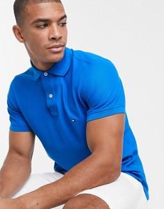 Приталенная футболка-поло Tommy Hilfiger-Синий