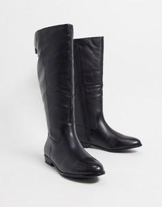 Черные кожаные высокие сапогидля верховой езды ALDO-Черный