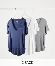 3 базовых футболки с короткими рукавами Hollister-Мульти