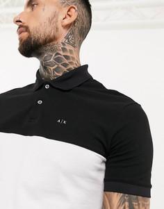 Черно-белое полов стилеколор блокс логотипом Armani Exchange-Черный