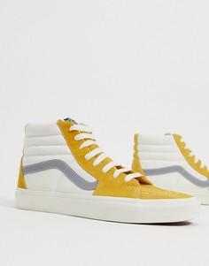 Золотисто-кремовые высокие кроссовки Vans Retro Sport SK8-Золотой