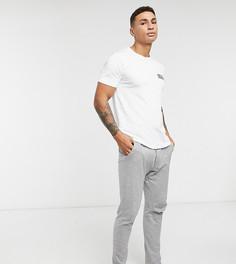 Комплект для дома из футболки и брюк серого/белого цвета Jack & Jones-Мульти