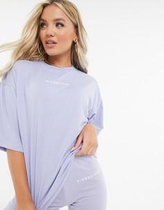 Голубой комплектиз футболки и шортов-леггинсов Missguided-Синий