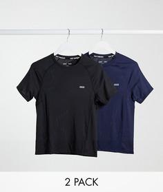 2 обтягивающих футболки из быстросохнущей ткани ASOS 4505 - НАБОР СО СКИДКОЙ-Черный
