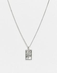Серебристое ожерелье с подвеской-скорпионом Icon Brand-Серебряный