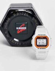 Белые цифровые часы Casio G-shock DW-5600LS-7-Белый