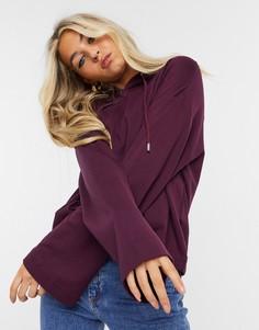 Худи фиолетового цвета от комплекта с широкими рукавами Selected Femme-Фиолетовый