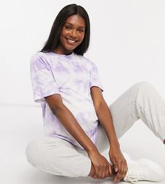 Сиреневая футболка в стиле oversized с принтом тай-дай ASOS DESIGN Maternity-Фиолетовый