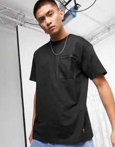Черная футболка с короткими рукавами и сетчатым карманом Carhartt WIP-Черный
