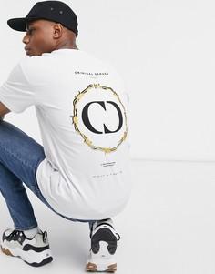 Белая футболка с принтомCriminal Damage-Белый