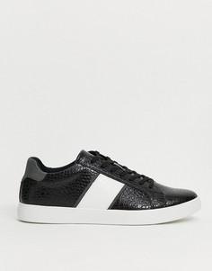 Черные кроссовки с полосками по бокам ALDO cowien-Черный