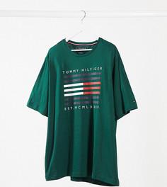 Зеленая футболка с логотипом Tommy Hilfiger Big & Tall-Зеленый