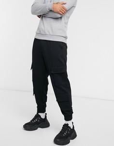 Черные джоггеры с карманами карго ASOS DESIGN-Черный