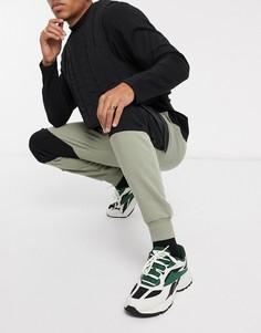 Джоггеры скинни черного цвета/хаки с карманами в стиле милитари ASOS DESIGN-Зеленый