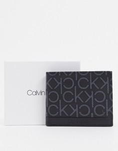 Бумажник с логотипом Calvin Klein-Черный