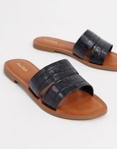 Черные сандалии-слипоны Aldo-Черный