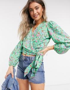 Блузка с цветочным принтом Levis Celia-Черный