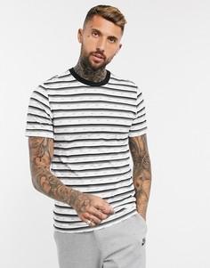 Черная/белая футболка с логотипом Nike Club-Черный