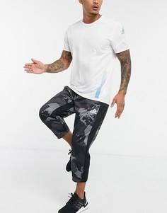 Серые камуфляжные джоггеры adidas-Серый