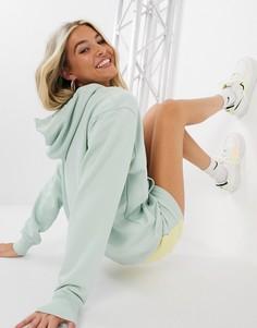 Худи зеленого цвета в стиле oversized с логотипом металлик Nike-Зеленый