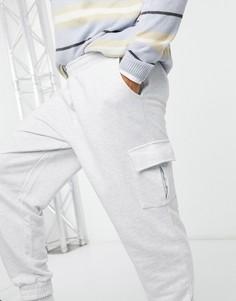 Белые oversized-джоггеры с карманами карго ASOS DESIGN-Белый