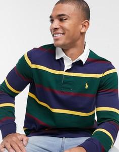 Футболка-поло с полосками и логотипом Polo Ralph Lauren-Зеленый
