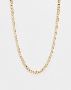 Броское золотистое ожерелье с серебристой застежкой-пружиной DesignB-Мульти