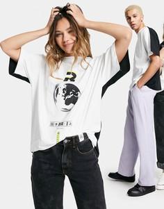 Двусторонняя футболка с принтом ASOS DESIGN-Мульти