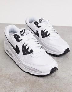 Белые/черные кроссовки Nike Air Max 90-Белый