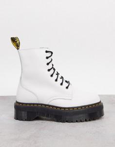 Белые кожаные ботинки Dr Martens Jadon-Белый