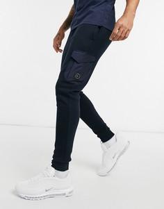 Темно-синие зауженные джоггеры с карманами Marshall Artist acier-Темно-синий