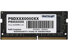 Модуль памяти Patriot Memory Signature DDR4 SO-DIMM 2666MHz PC4-21330 CL19 - 4Gb PSD44G266682S