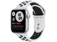 Умные часы APPLE Watch Nike SE 40mm Silver Aluminium Case with Pure Platinum/Black Nike Sport Band MYYD2RU/A