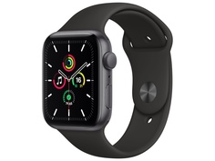 Умные часы APPLE Watch SE 44mm Space Grey Aluminium Case with Black Sport Band MYDT2RU/A