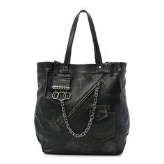 Кожаная сумка-шопер Dsquared2