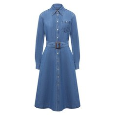 Платье из хлопка и льна Polo Ralph Lauren