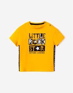 Жёлтая футболка с принтом для малыша Gloria Jeans