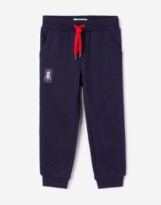 Тёмно-синие спортивные брюки для мальчика Gloria Jeans