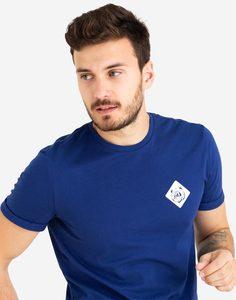 Синяя футболка с принтом Gloria Jeans