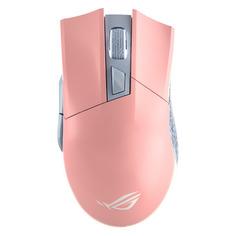 Мышь ASUS ROG Gladius II Origin, игровая, оптическая, беспроводная, USB, розовый [90mp00u3-b0ua01]
