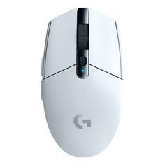 Мышь LOGITECH G305, игровая, оптическая, беспроводная, USB, белый [910-005291]