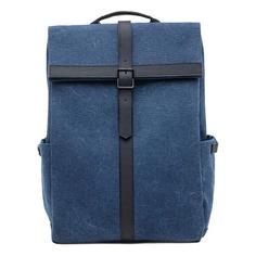 Рюкзаки, чемоданы, сумки Рюкзак Xiaomi 90 POINTS GRINDER OXFORD CASUAL 32x40x15см 1кг. полиэстер/хлопок синий