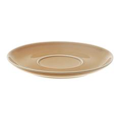 Блюдце Башкирский фарфор Принц 14,5 см золотисто-коричневый
