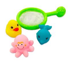 Игрушка для ванны ABtoys Веселое купание сачок с животными (PT-00535)